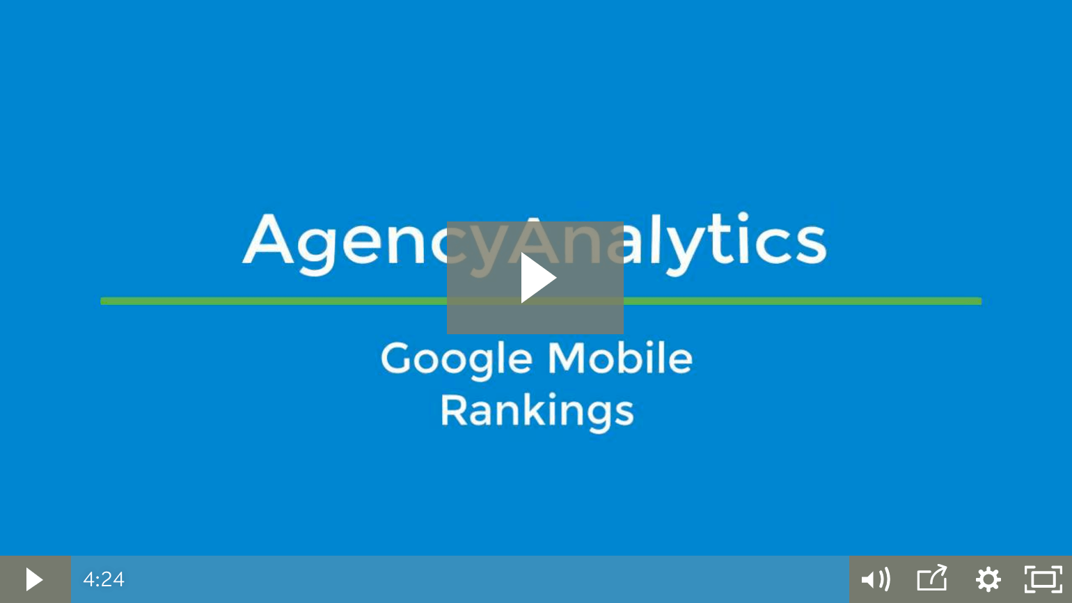 Google Mobile Rankings Video