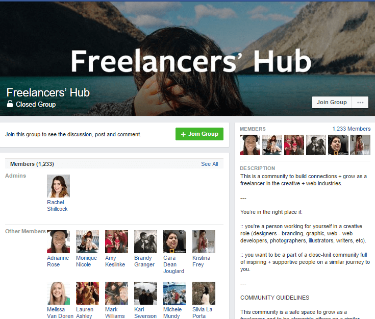 hire facebook groups