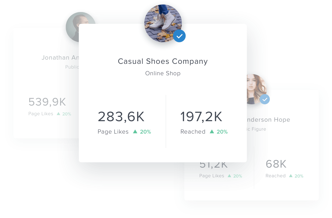 facebook pages in reporting dashboard