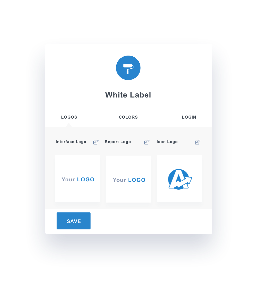 White label settings for the dashboard